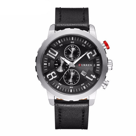 Curren 8193 Sports Watch with Leather Strap