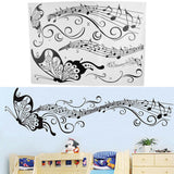 Bedroom Backdrop Combination Monochrome Butterfly Note Pattern Wall Sticker FREE plus Shipping Offer - UYL Online Store