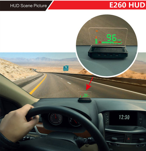 Car Head-Up Display Auto HUD Projector with Vehicle Speeding Warning