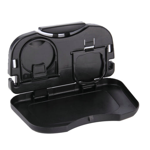 Car Food Tray Stand for Rear Seat - Travel Mount Accessory Fold-able Meal Cup Desk Table