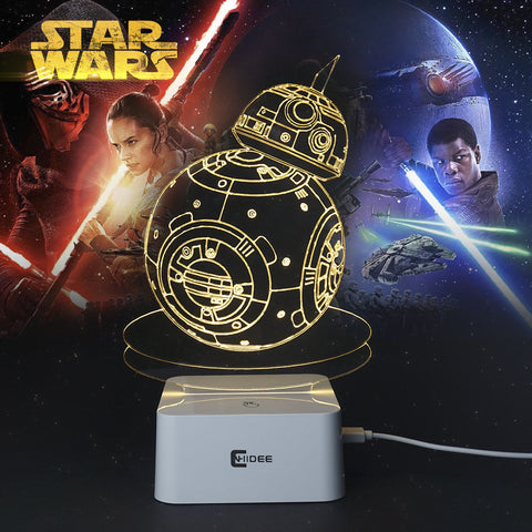 Star Wars Lamp 3D Robot USB Led Night Light