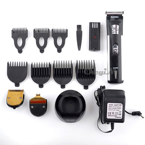 HAIR CLIPPER WITH EXTRA BATTERY - 7 ATTACHMENT COMB