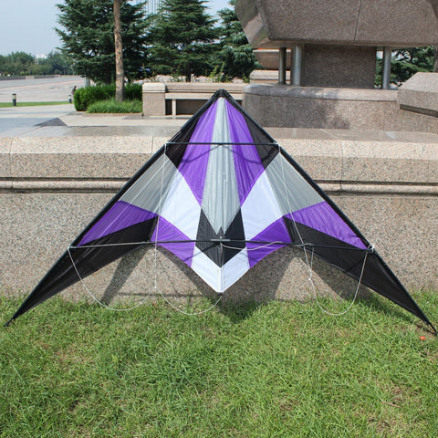 Power Dual Line Stunt Kite with Handle & Line