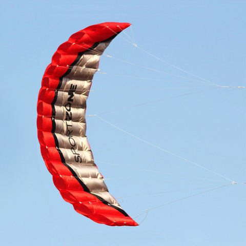 High Quality 2.5m Red Dual Line Parafoil Kite With Flying Tools