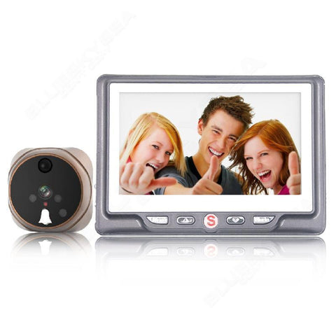 Motion Detection PIR Night Vision Peephole Viewer Doorbell Camera
