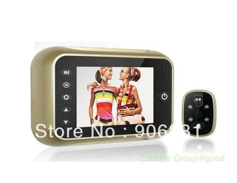 "Golden 3.5"" Monitor Doorbell Peephole Viewer Camera"