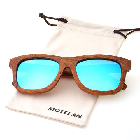 Handmade Polarized Pear Wood Sunglasses With Anti-glare Reflective Lens