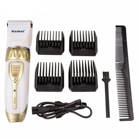 Men's Electric Hair Trimmer With 4 Styling Combs