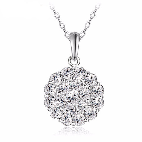 Flower Ball Pendant Necklace