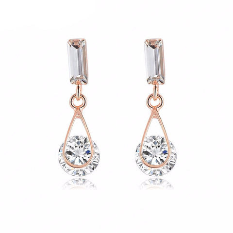 Crystal Pendant Earrings