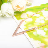 V Letter Pendant Necklace