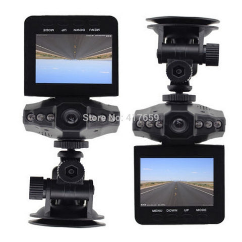 "DVR 2.5"" HD Recorder, Road Dash Video Camcorder LCD 270 Degree Wide Angle Motion Detection"