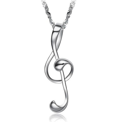 Exquisite 18K White Gold Plated Pendant - UYL Online Store