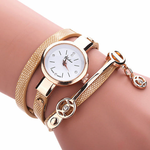Fashionable Rhinestone Bracelet Wrist Watch