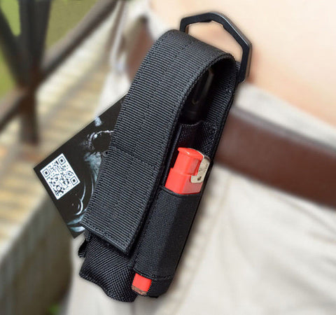 Military Flashlight Pouch with Two Side Battery