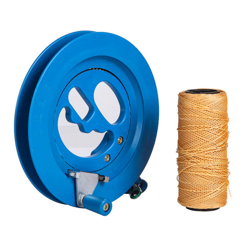 Round Blue 16cm Kite Reel Winder with 150m Line Connector