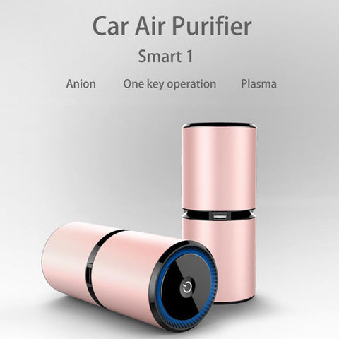 Car Air Purifier Dual USB Ports Air Freshener Plasma Car Fresh Air Anion Ionic Purifier Oxygen Bar Ozone Ionizer Cleaner