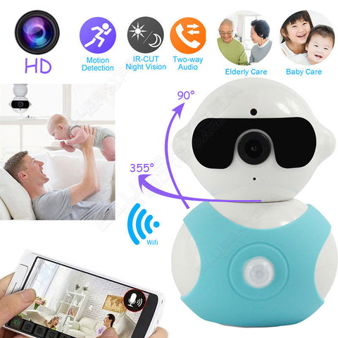 Digital Baby Monitor IP HD Tilt Remote Day/Night Webcam Baby Monitor