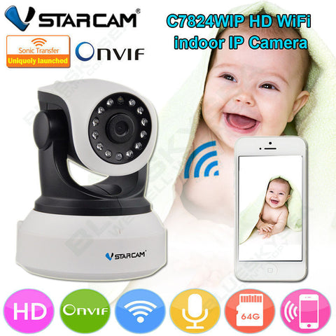 HD Indoor Wifi CCTV IP Camera Baby Monitor