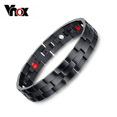 Black Magnetic Bracelet Health Chain Charm Jewelry Stainless Steel Bracelet