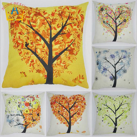 Woven Linen Cotton Nature Design Cushion Cover Pillow Case