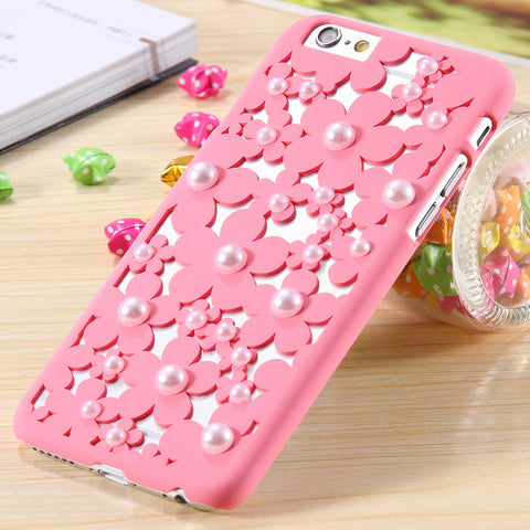 Fashion Pierced Flower Pearl Protective Case For iPhone FREE plus Shipping Offer - UYL Online Store