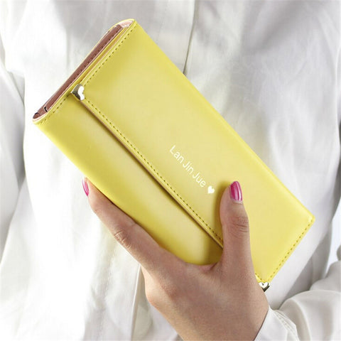 Quality Leather Fashion Long Wallet for Women