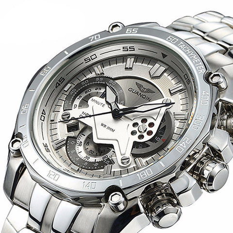 GUANQIN Waterproof and Stainless Steel Men's Watch