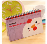 Cute Cartoon Totoro and Animal Characters Weekly Spiral Planner - UYL Online Store