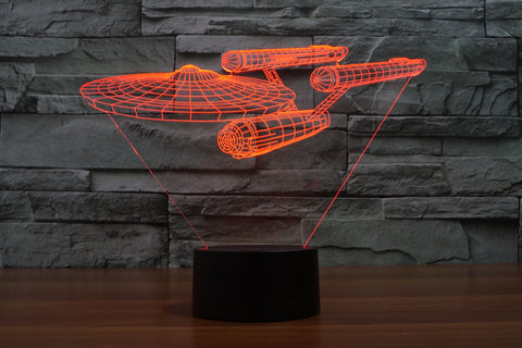 Star Trek Battleship 3D lights colorful Touch LED Visual Gifts Atmosphere Night Lamp