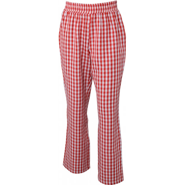 HOUNd GIRL Checks pants wide pants Red