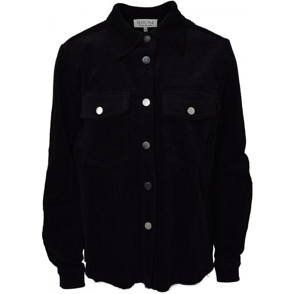 HOUNd GIRL Corduroy shirt jacket shirt Black