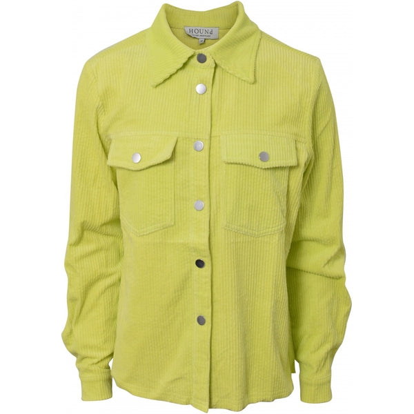 HOUNd GIRL Corduroy shirt jacket shirt Neon lime