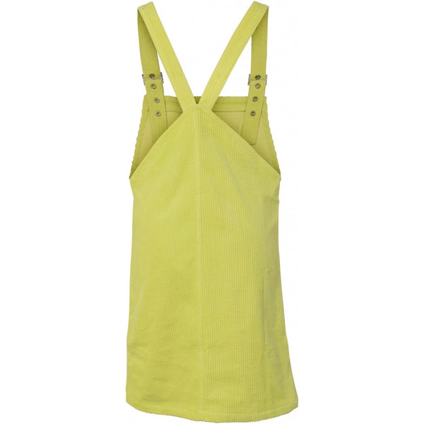 HOUNd GIRL Corduroy spencer dress dress Neon lime