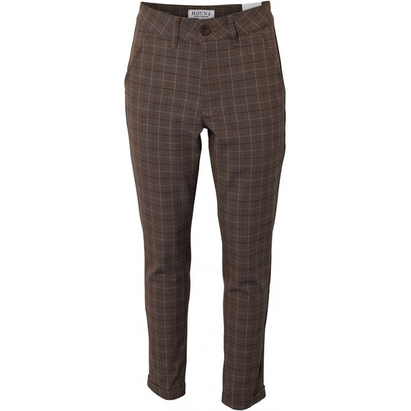 HOUNd BOY Fashion Chino Checks pants Brown