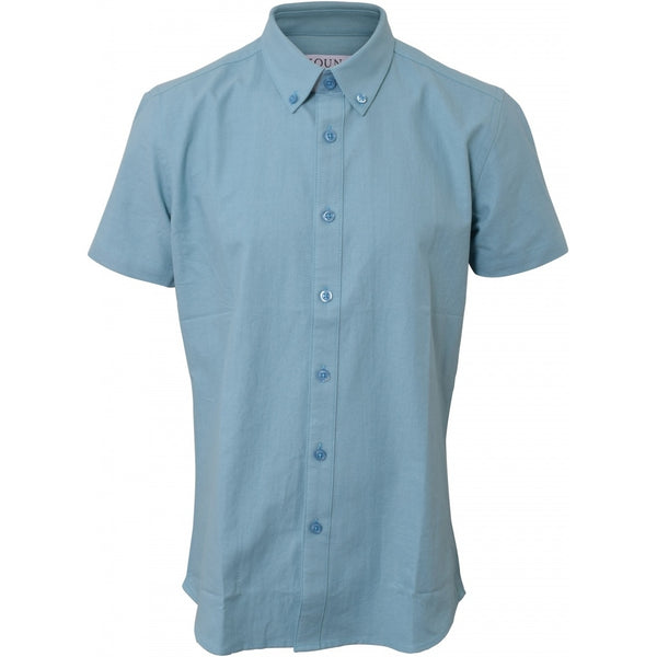 HOUNd BOY Shirt S/S - Button Down shirt Dusty blue