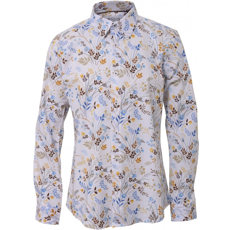 HOUNd BOY Shirt Flowers button under shirt White