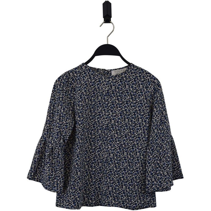 HOUNd GIRL Trumpet sleeve blouse Blouse Blue
