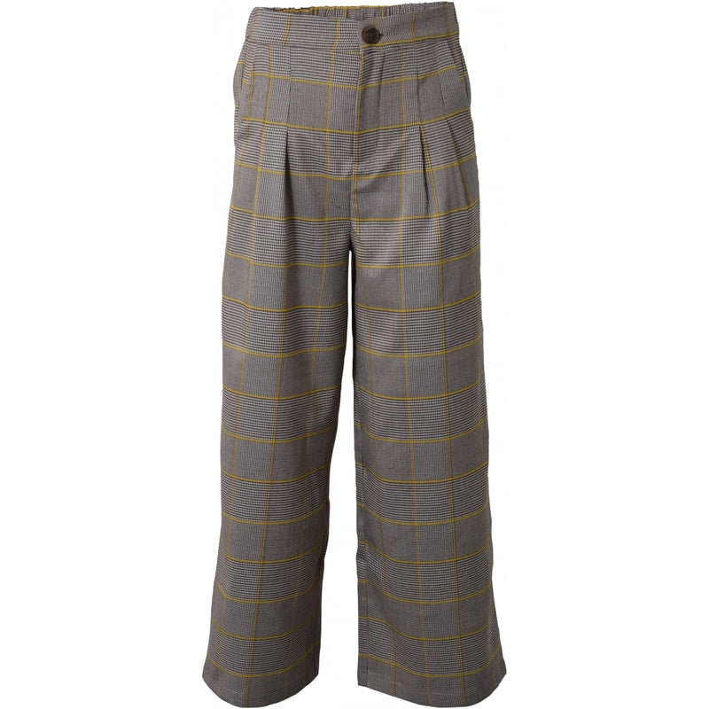 HOUNd GIRL Wide pants checks pants Yellow