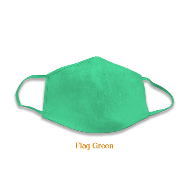 2 layer multicoloured cotton masks, Flag Green