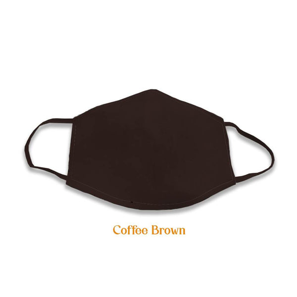 2 layer multicoloured cotton masks, Coffee Brown