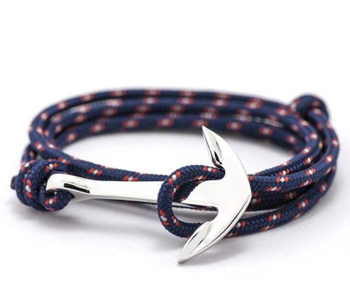 Silver Paracord Anchor (Blue/Red)