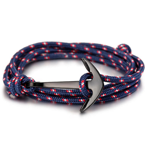 Paracord Alloy Anchor (Blue/Red)