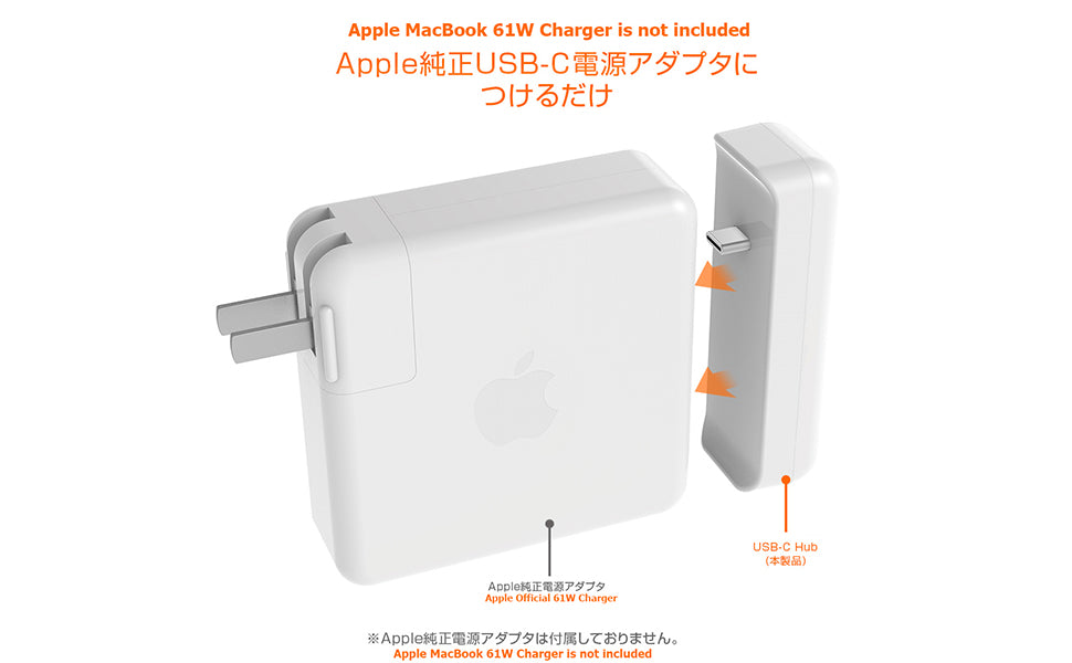 0 Power Adapter USB-C High-Speed-Charge-and-Sync Hub