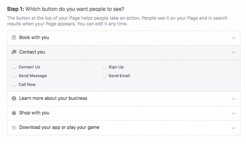 Adding Call to Action for FB Post