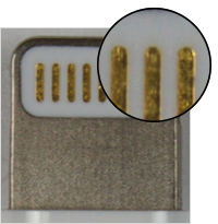 Certified lightning connector contacts
