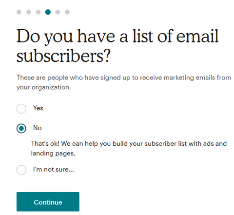 MailChimp Landing Page Sign up 04 Adding Email Subscribers