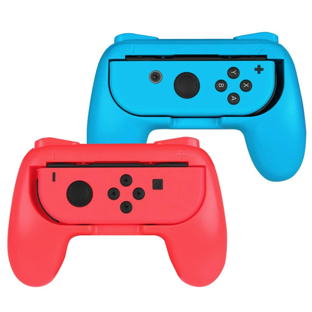 2 Pack Wear Resitant Handle Grip for Nintendo Switch Joy-Con Controllers 0
