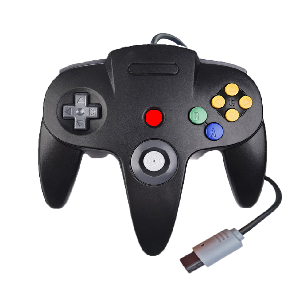 Family 4 Pack 1.8m/6FT Nintendo Retro N64 Controllers, Black, White, Orange, Blue 3