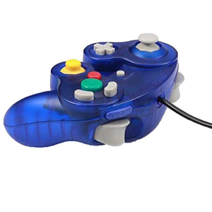 2 Pack N64 Wired Controller for Retro Nintendo 64 - Transparent Blue 4